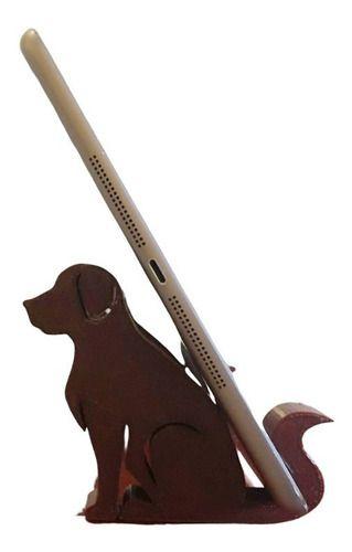 Suporte Apoio De Mesa Tablet Celular Decorativo Cão Gato