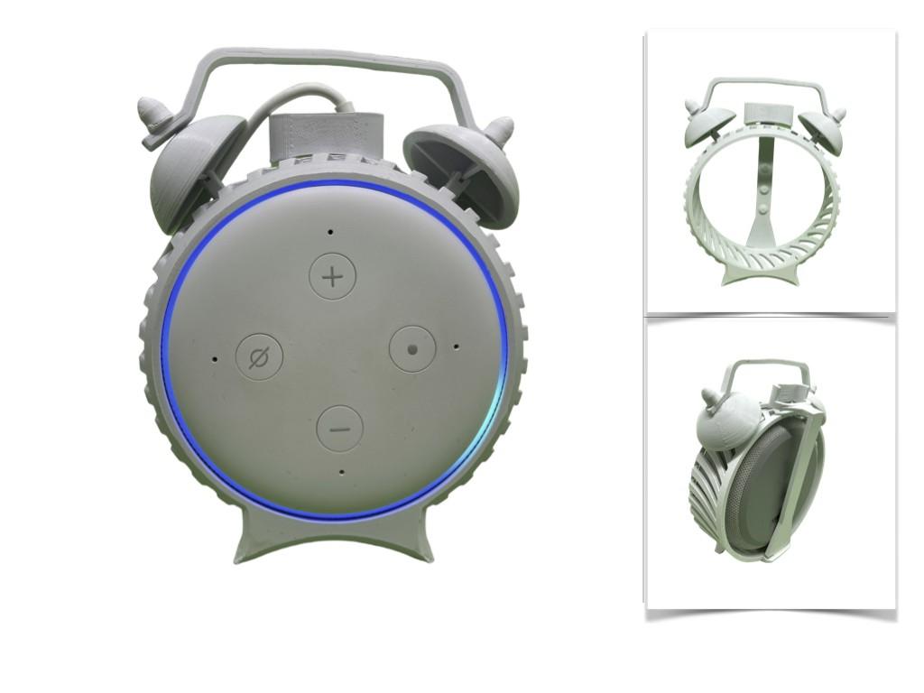 Suporte De Mesa Amazon Alexa Retro Moderno Alarme Echo Dot 3