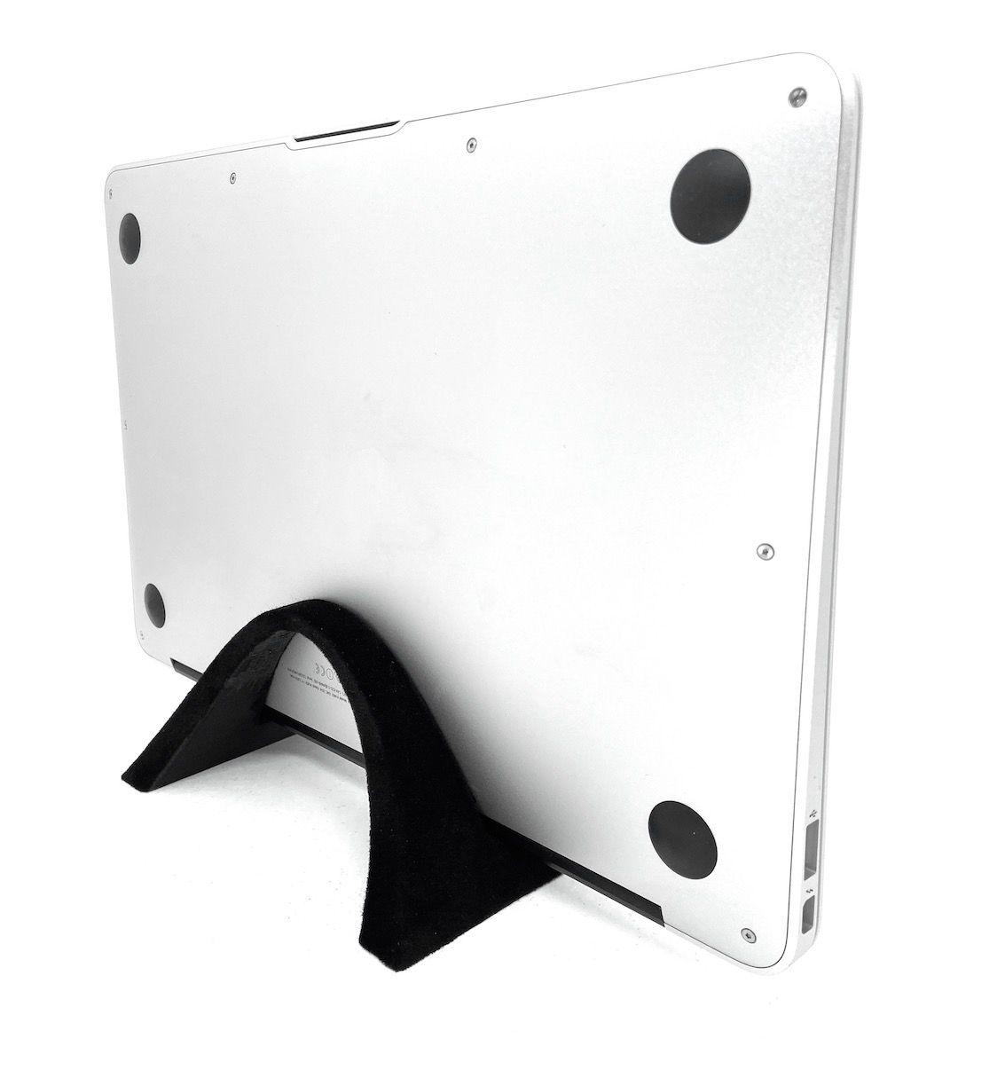 Suporte Macbook Notebook De Mesa Em Pé Vertical Aveludado