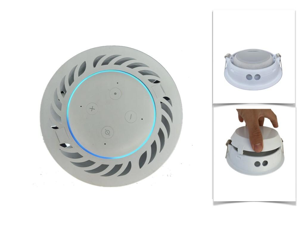 Suporte / Stand De Embutir Teto Amazon Echo Dot 3 Com Domo