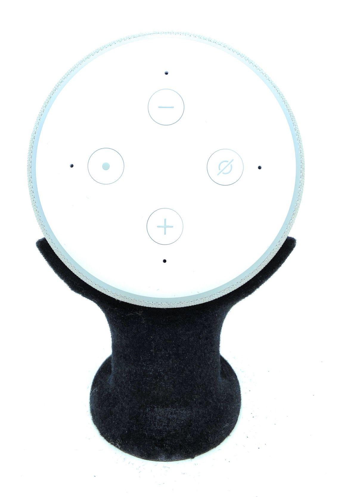 Suporte Stand De Mesa Amazon Alexa Echo Dot 3 Aveludado