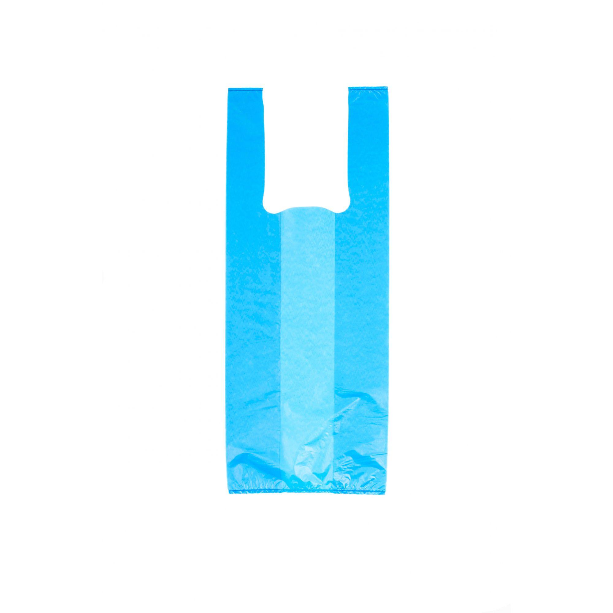 Sacola Alça Camiseta 30x45 Azul