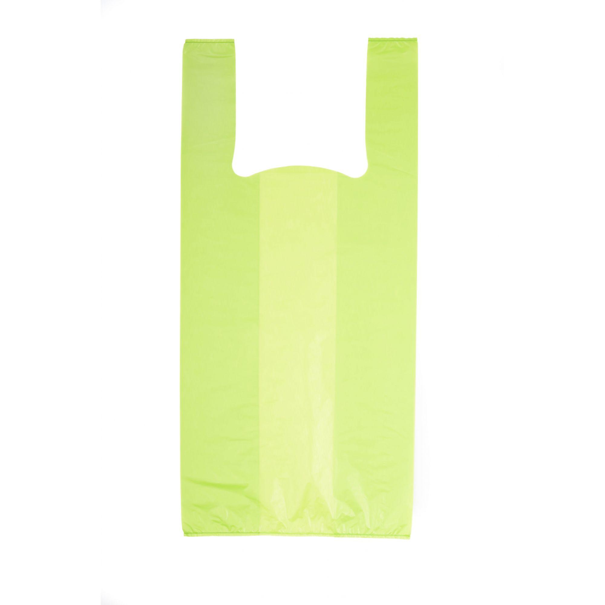 Sacola Alça Camiseta 30x45 Verde 50 Unidades