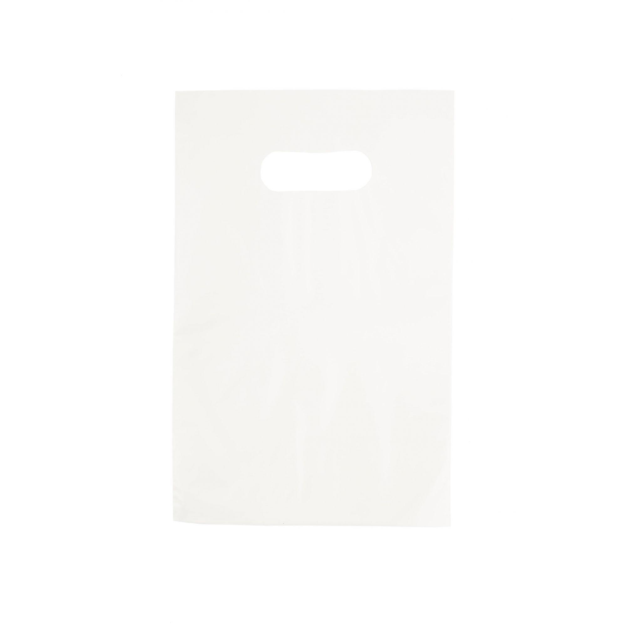 Sacola Plástica 20x30 Branca - Alça Boca de Palhaço