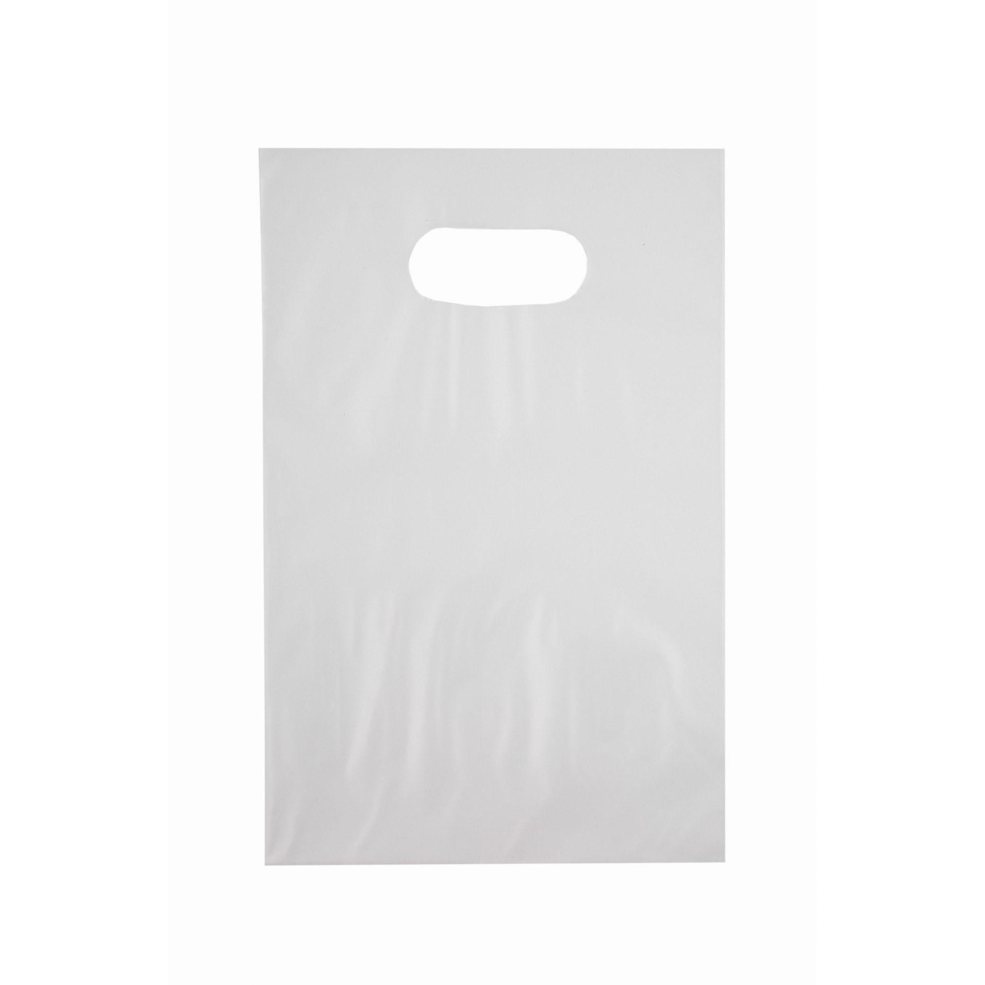 Sacola Plástica 20x30 Transparente - Alça Boca de Palhaço