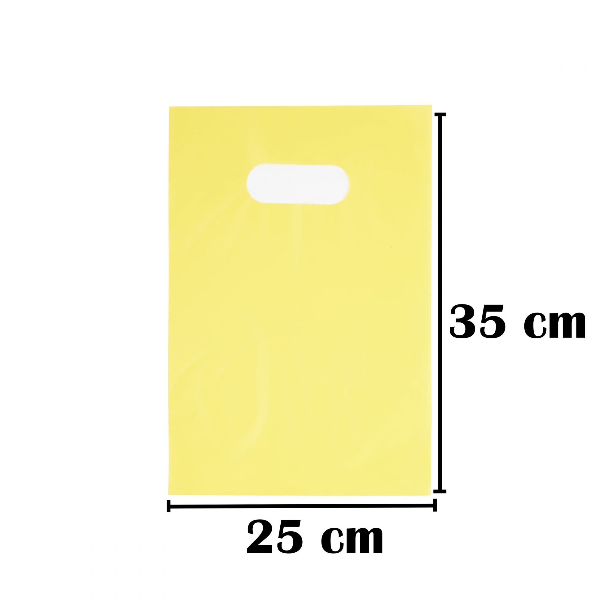Sacola Plástica 25x35 Amarela Alça Boca de Palhaço 50 Unidades