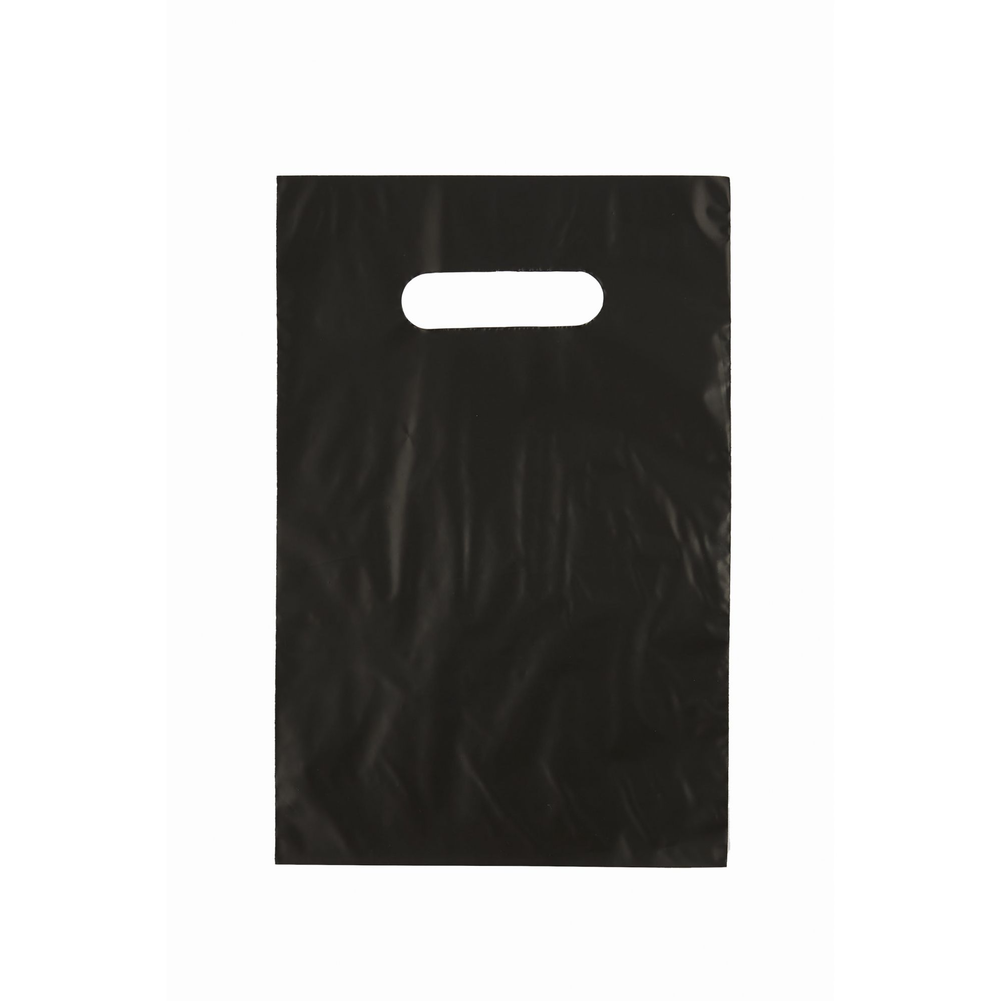 Sacola Plástica 25x35 Preta - Alça Boca de Palhaço