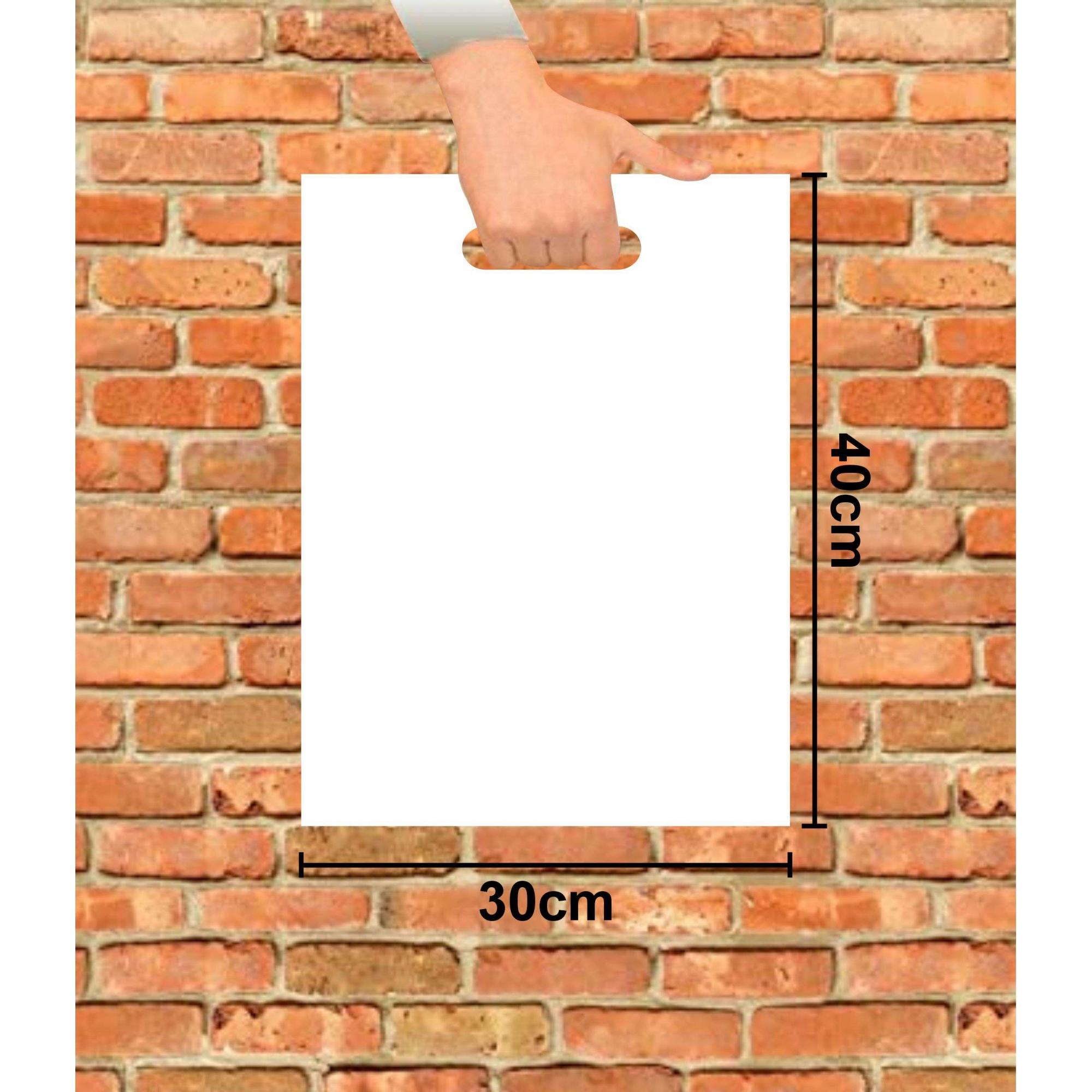 Sacola Plástica 30x40 Branca Alça Boca de Palhaço 100 Unidades