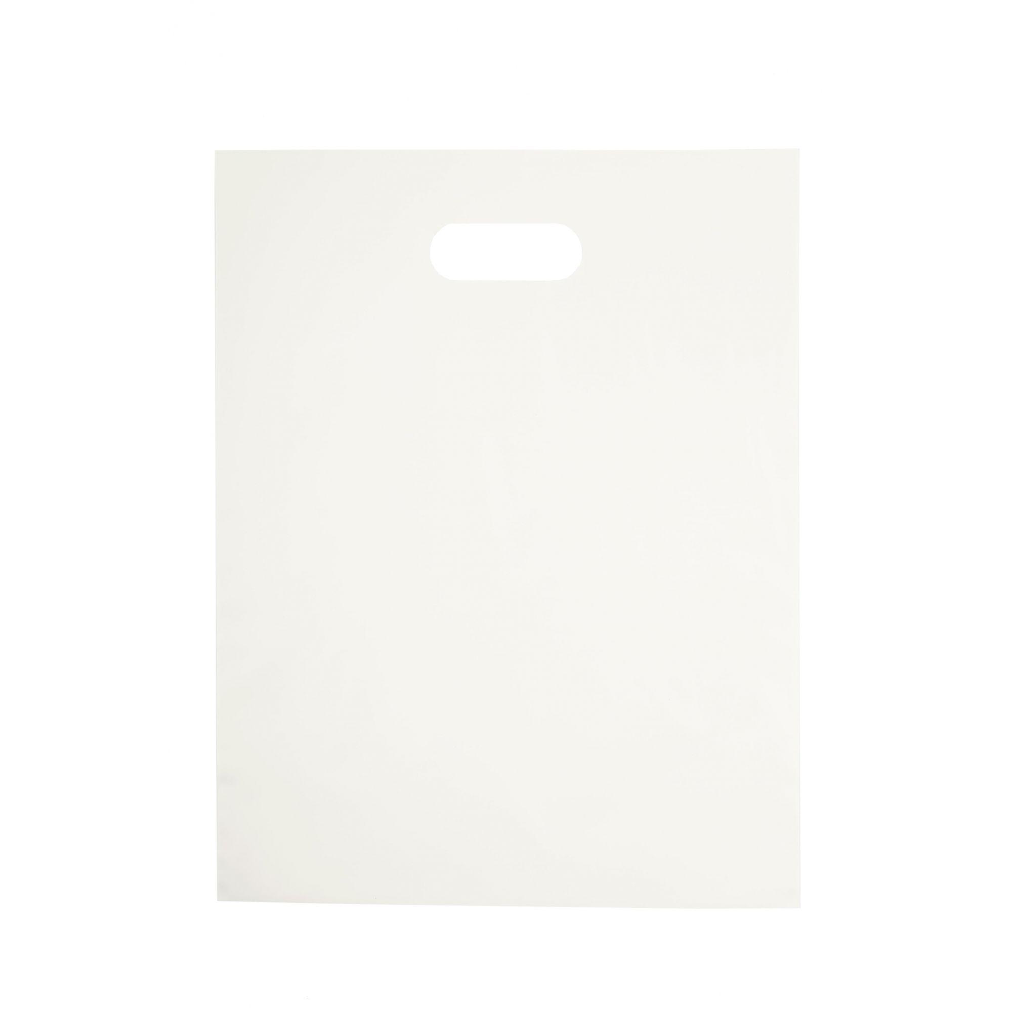 Sacola Plástica 35x44 Branca - Alça Boca de Palhaço