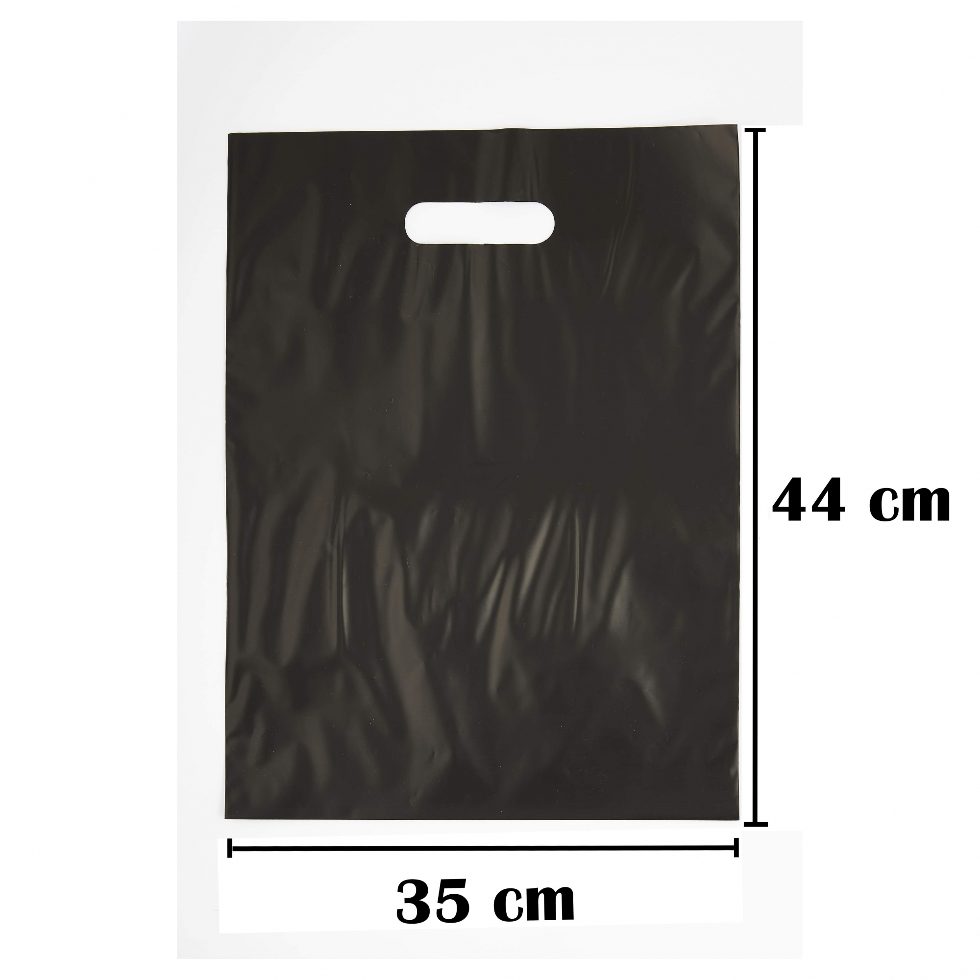 Sacola Plástica 35x44 Preta Alça Boca de Palhaço 250 Unidades