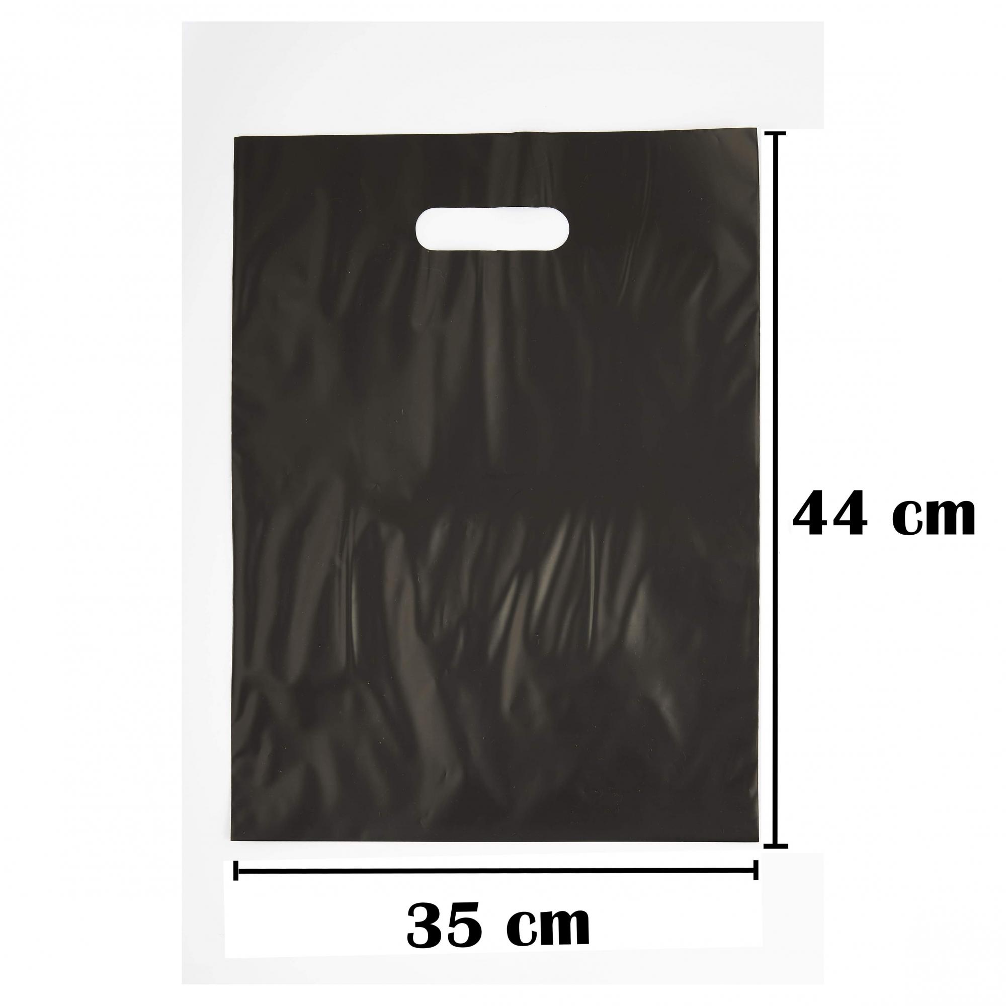 Sacola Plástica 35x44 Preta Alça Boca de Palhaço 50 Unidades