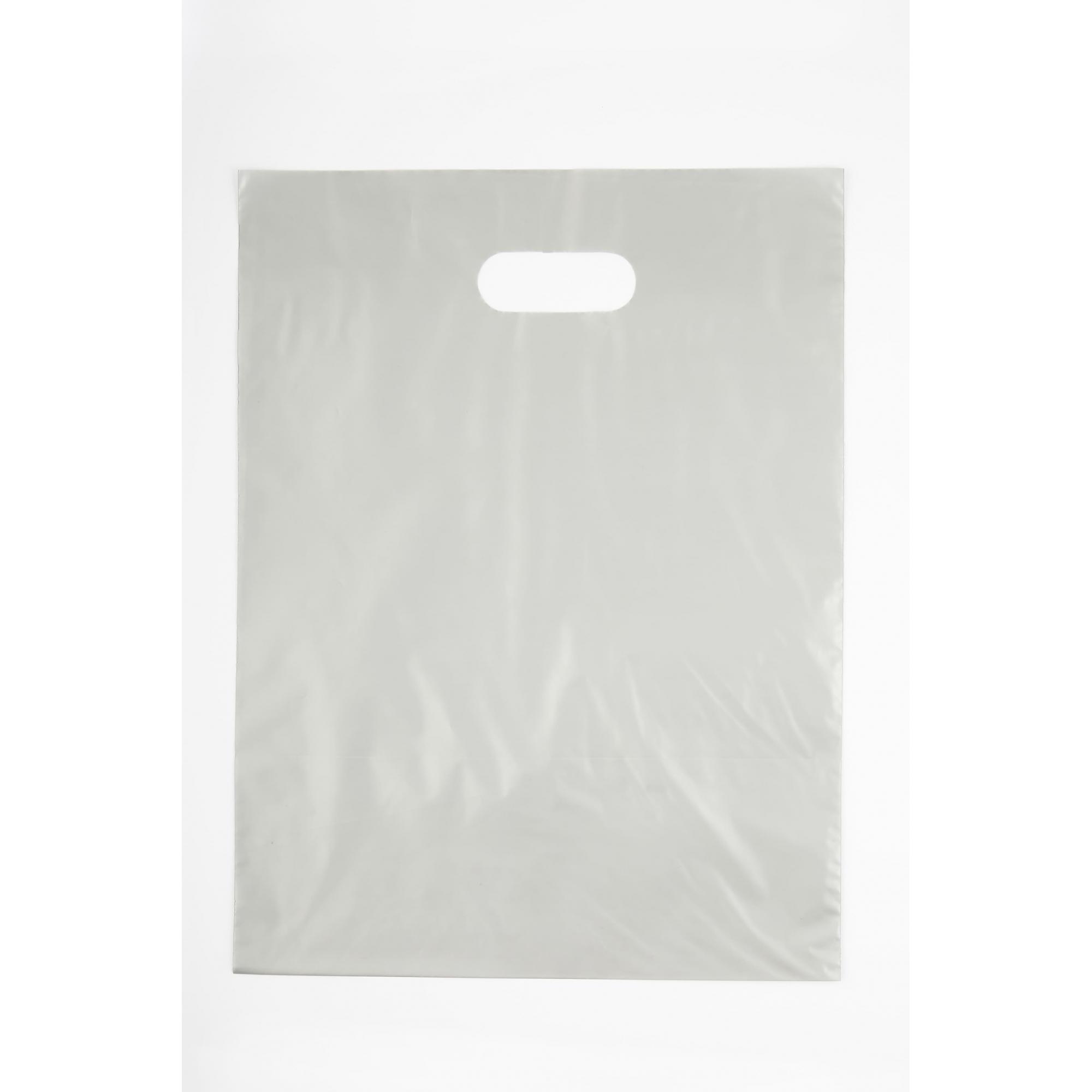 Sacola Plástica 35x44 Transparente - Alça Boca de Palhaço