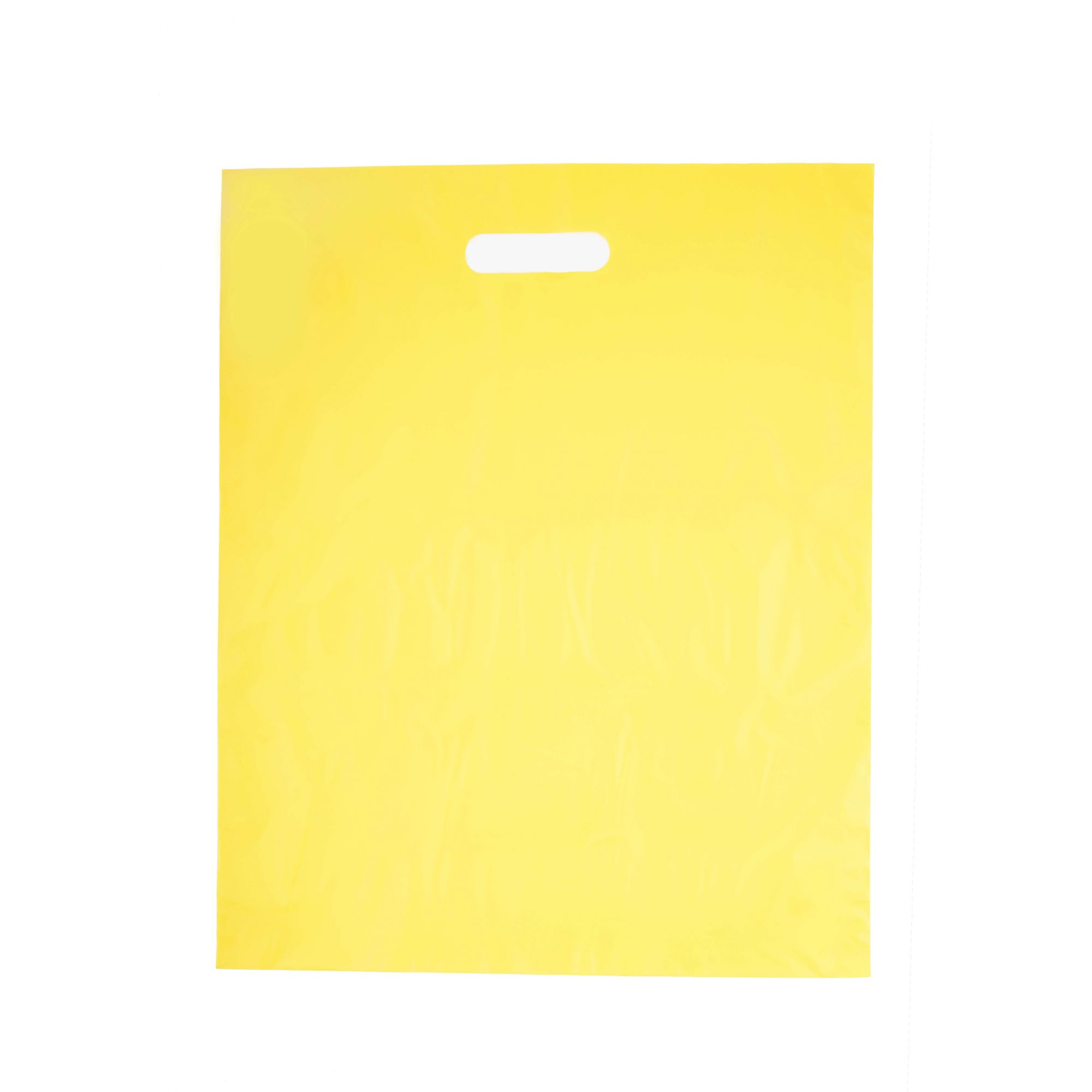 Sacola Plástica 40x50 Amarela - Alça Boca de Palhaço