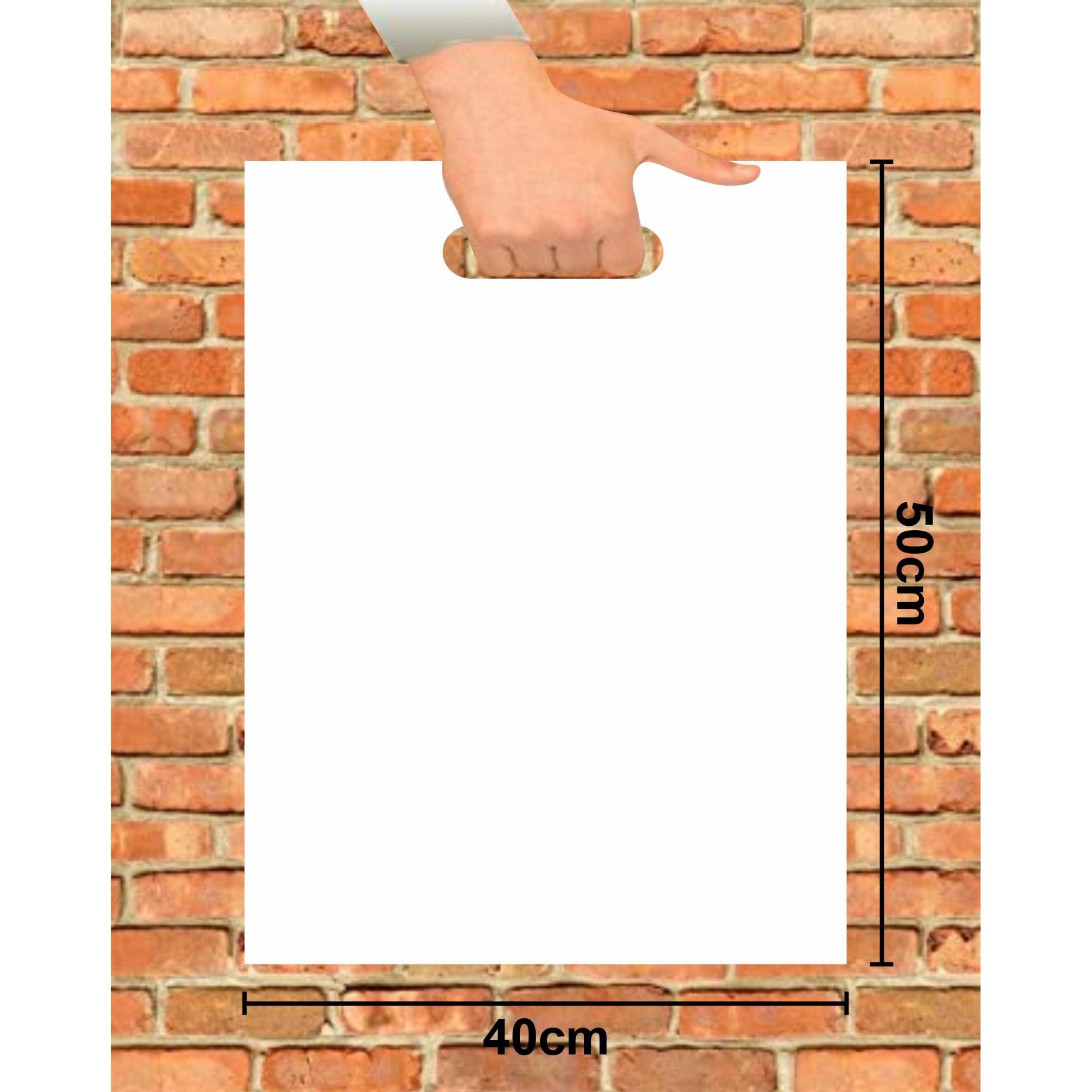 Sacola Plástica 40x50 Branca Alça Boca de Palhaço 50 Unidades