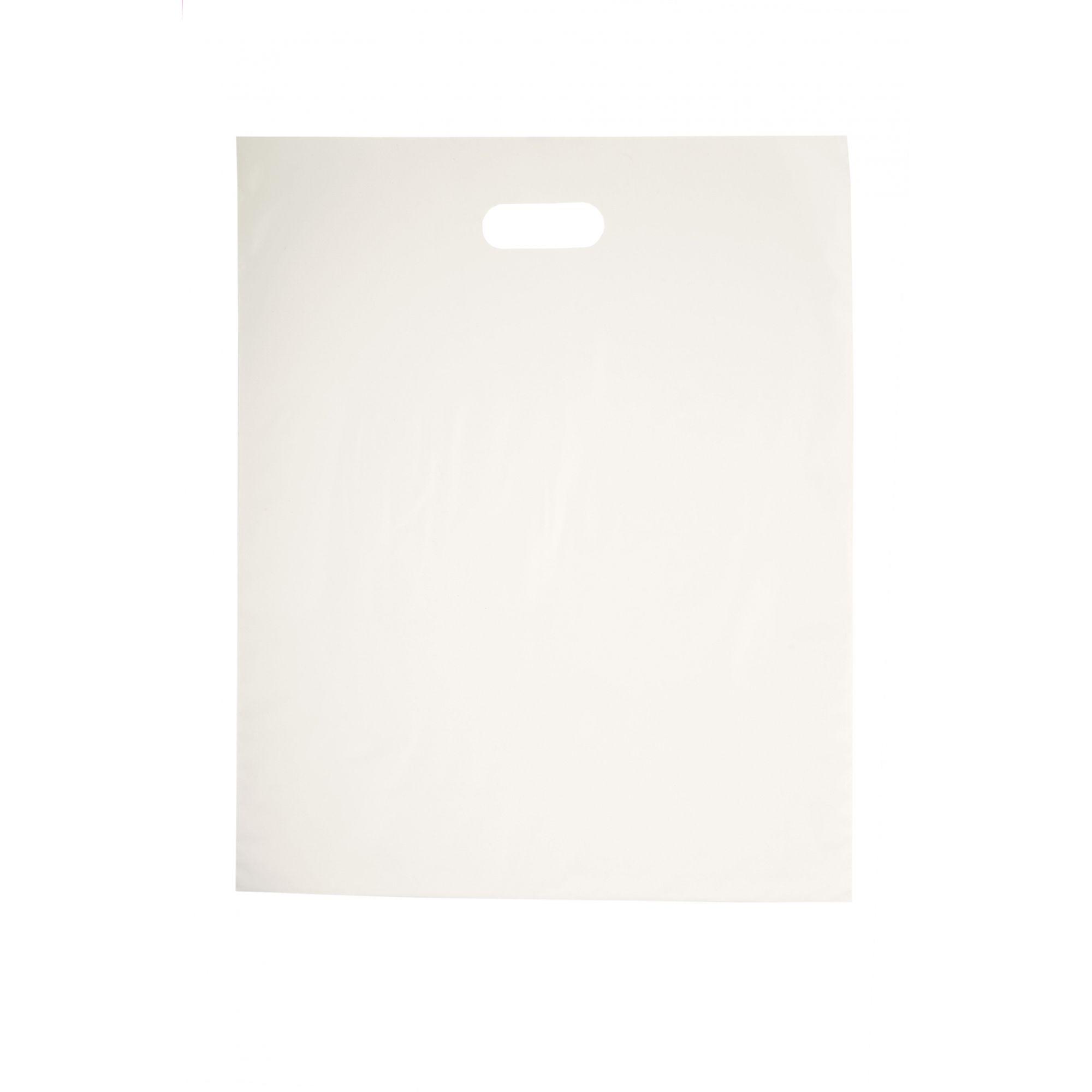 Sacola Plástica 40x50 Branca - Alça Boca de Palhaço
