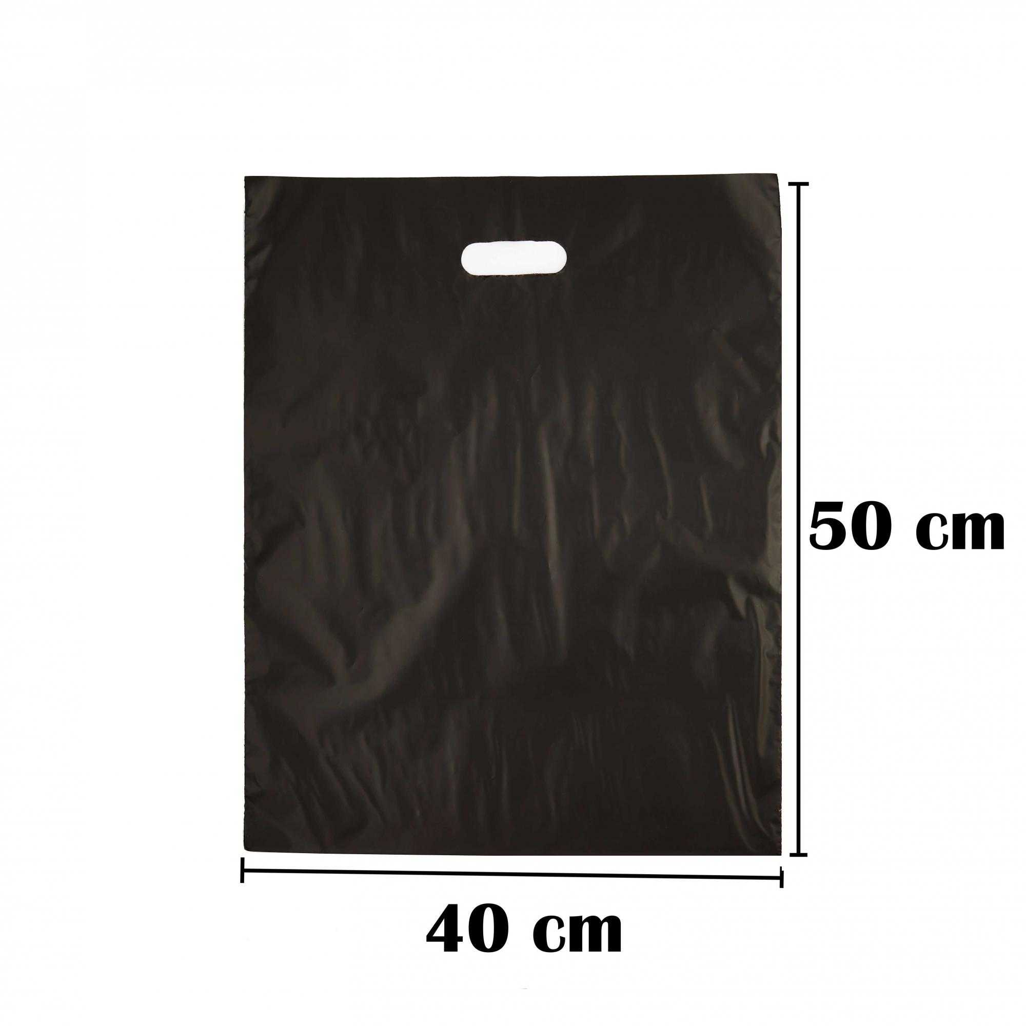 Sacola Plástica 40x50 Preta Alça Boca de Palhaço 50 Unidades