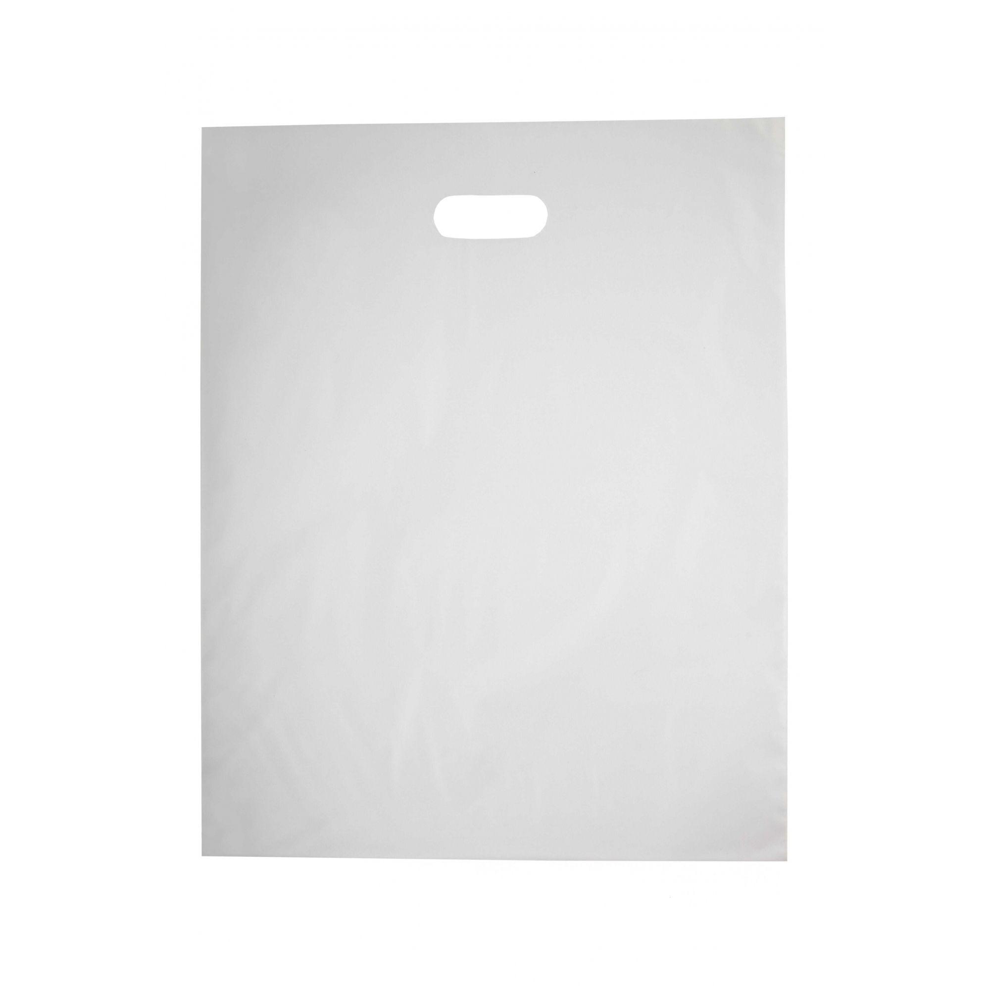 Sacola Plástica 40x50 Transparente - Alça Boca de Palhaço