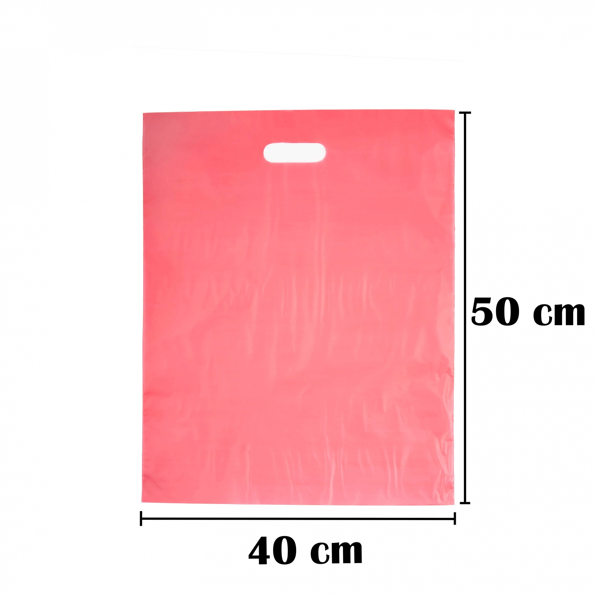 Sacola Plástica 40x50 Vermelha Alça Boca de Palhaço 1.000 Unidades
