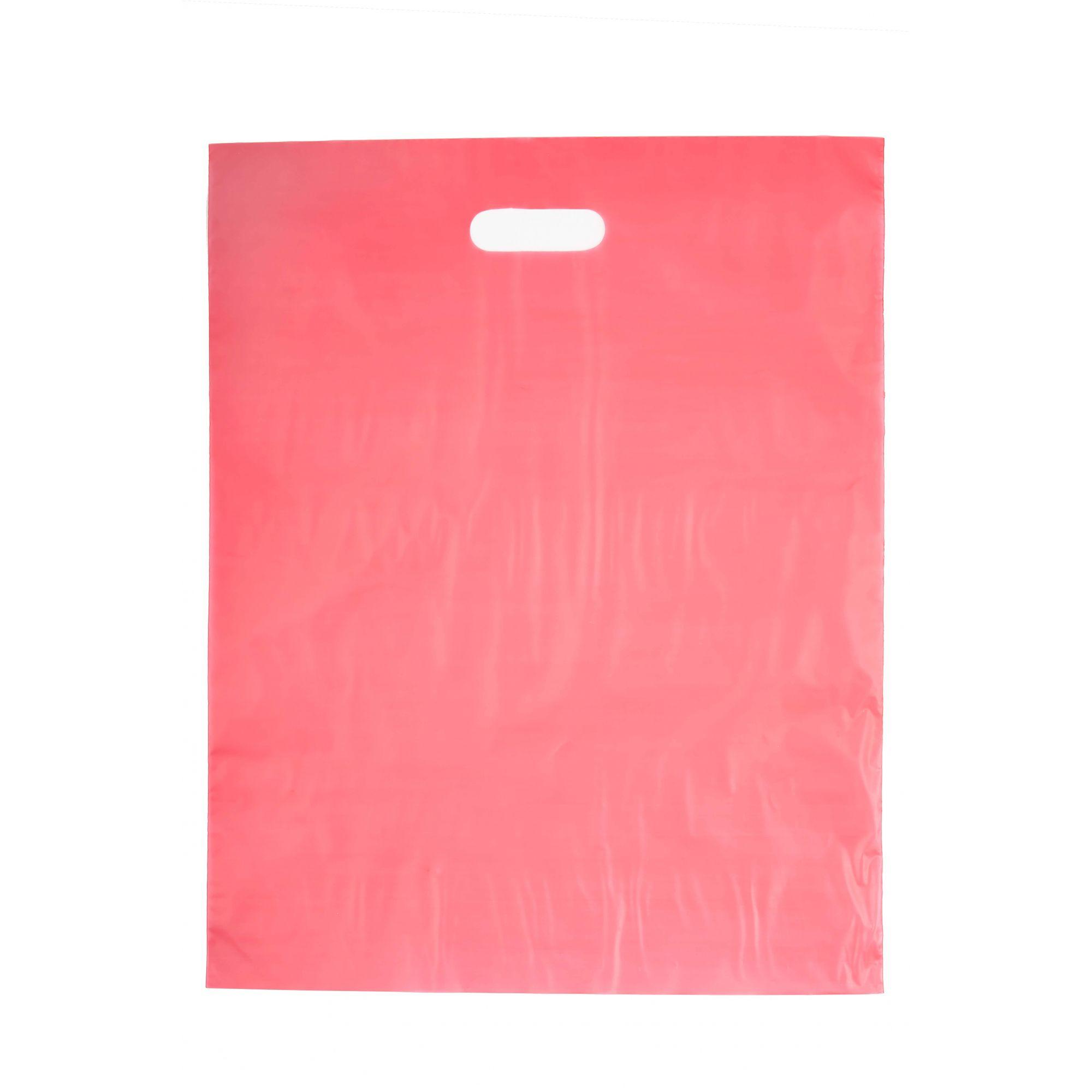 Sacola Plástica 40x50 Vermelha - Alça Boca de Palhaço