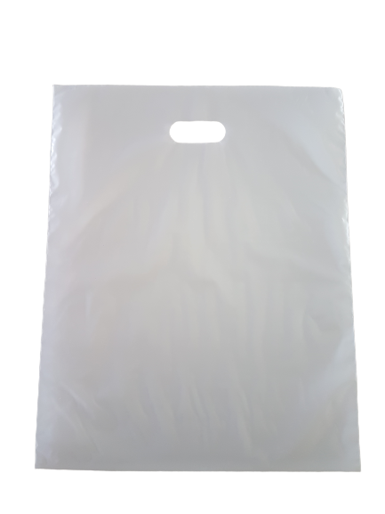 Sacola Plástica 40x56 Prata - Alça Boca de Palhaço