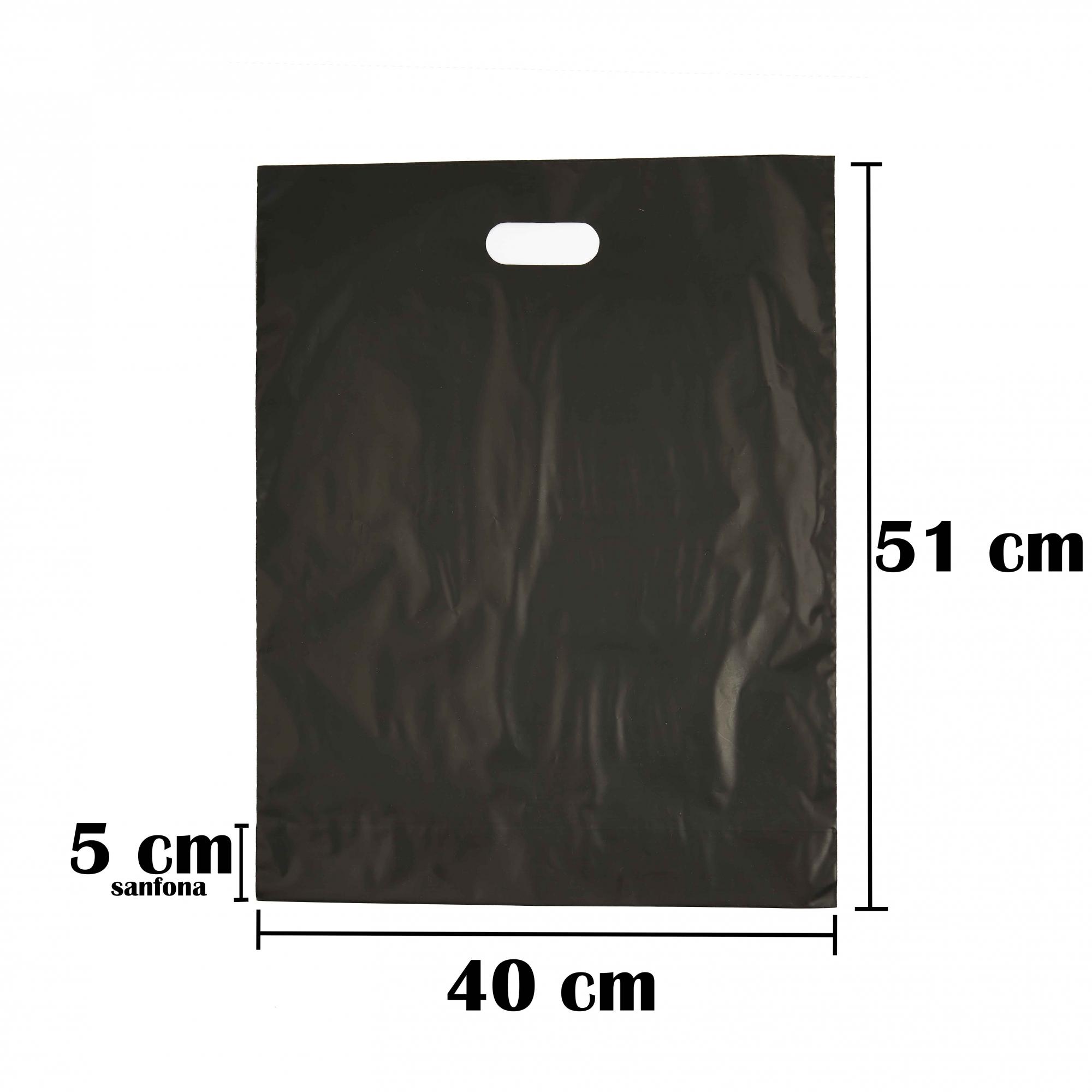 Sacola Plástica 40x56 Preta Alça Boca de Palhaço 250 Unidades