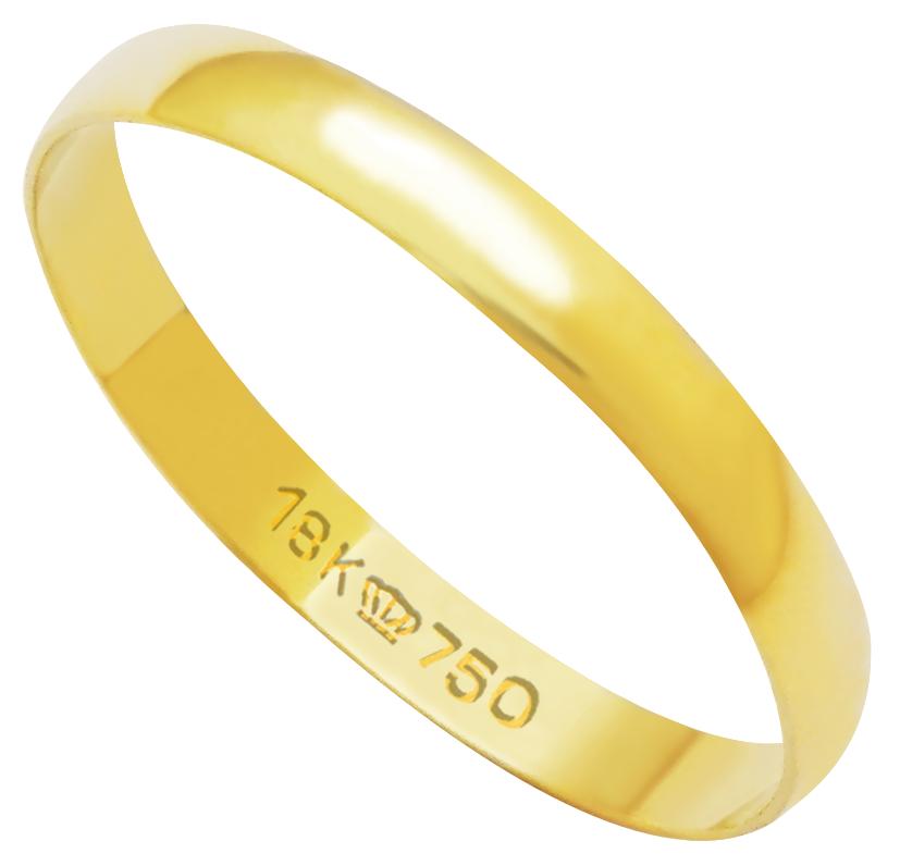 Aliança Ouro 18K Tradicional  A250