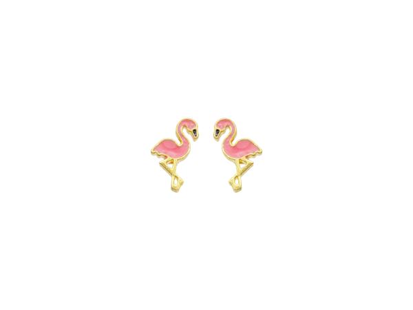 Brinco Bruna Folheado em Ouro 18k Pelicano