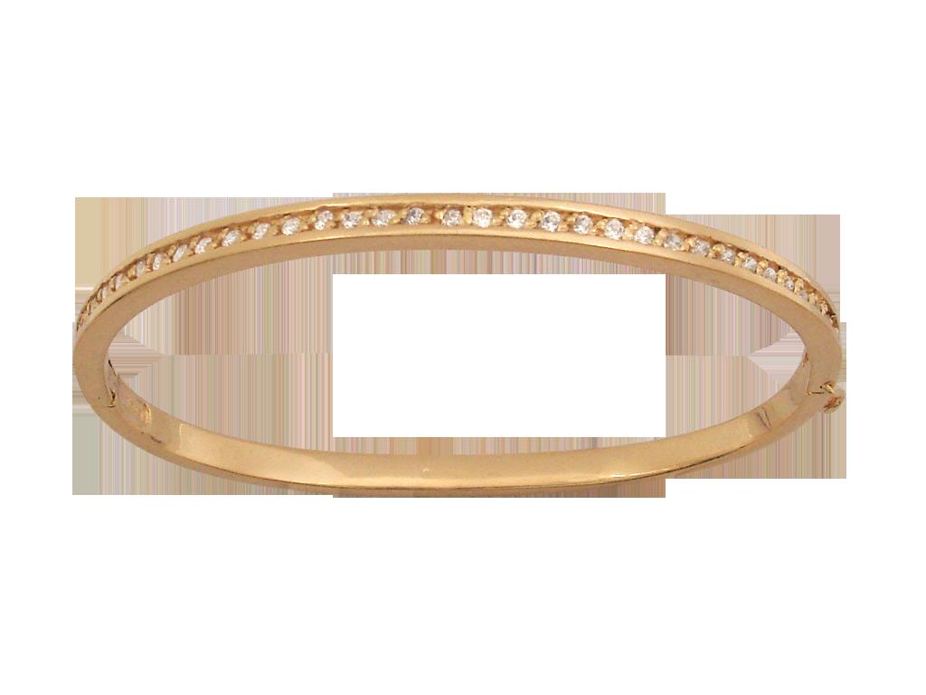 Pulseira  Bracelete Bruna Folheado em Ouro 18k  Com Zircônias