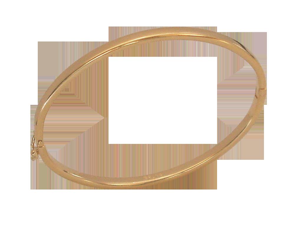 Pulseira  Bracelete Liso Bruna Folheado em Ouro 18k