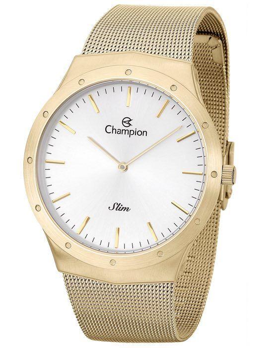 Relógio Champion Slim Mesh Dourado  CA21811H