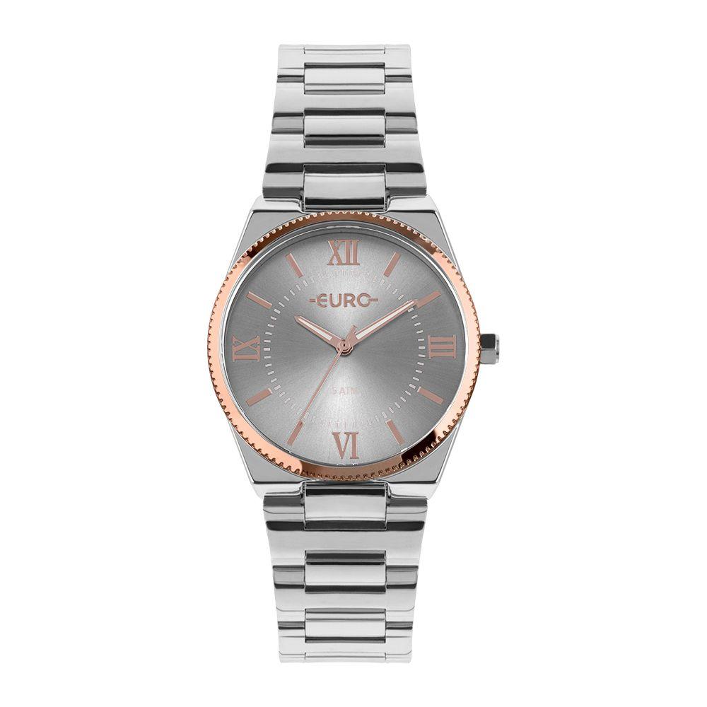Relógio Euro Prata com Rose EU2035YQR5C