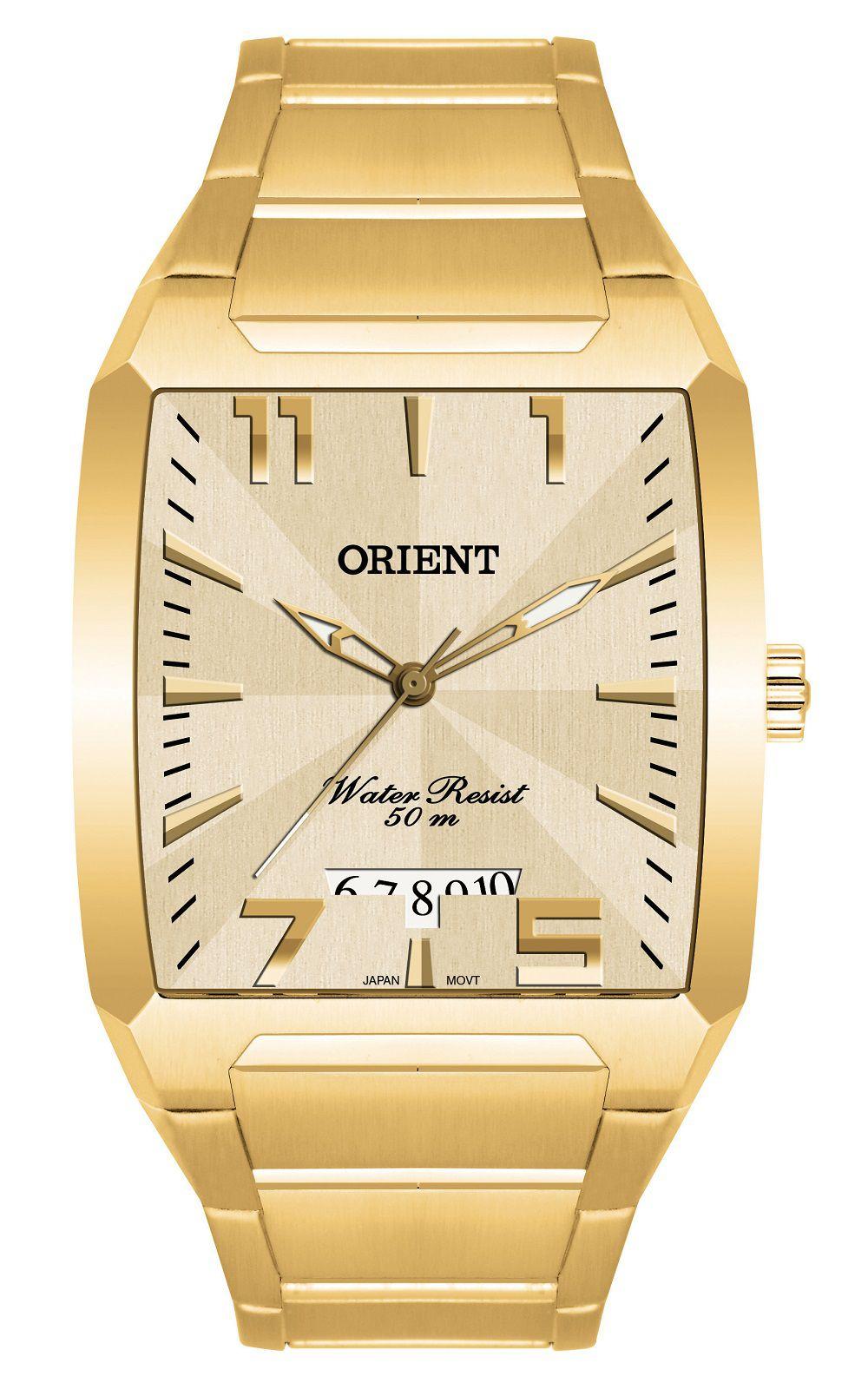 Relógio Orient Dourado Quartz GGSS1007