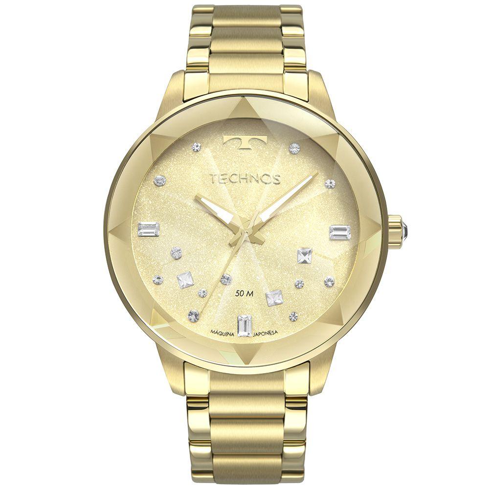 Relógio Technos Dourado Crystal 2039CE4X