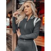 Conjunto jaqueta bomber punho - Priscila