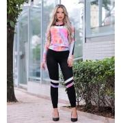 Conjunto Tie Dye Feminino Moletinho com Ziper e Capuz - Vitória