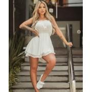 Macaquinho Feminino Curto Soltinho Branco - Tainá