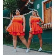 Macaquinho Feminino Soltinho Curto Laranja - Danieli
