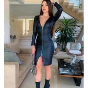 Vestido Curto 2 formas de uso com zíper Preto – Deborah