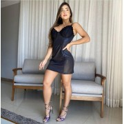 Vestido Curto Feminino Cirre Preto - Luara