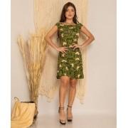 Vestido Curto Feminino Soltinho Verão Babado Verde - Priscila