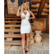 Vestido Curto Tubinho Branco – Luciana