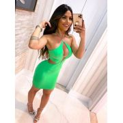 Vestido Curto Alcinha Verde - Daniela