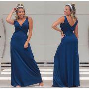 Vestido Longo Regata Azul - Livia