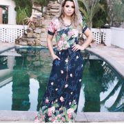 Vestido Longo Manguinha Floral - Julieta