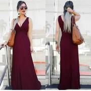 Vestido Longo Regata Bordô – Tatiane