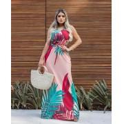 Vestido Longo Regata com Bolso Rosa - Sara
