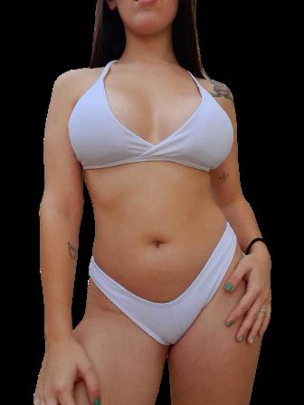 Biquini Asa Delta Branco - Sara