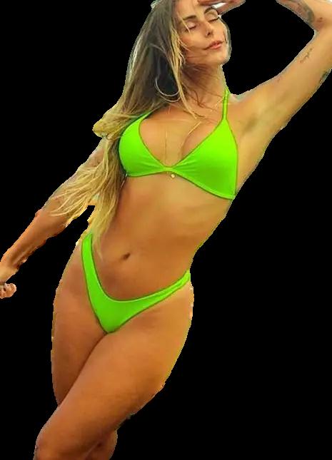 Biquini Asa Delta Verde Neon - Sara