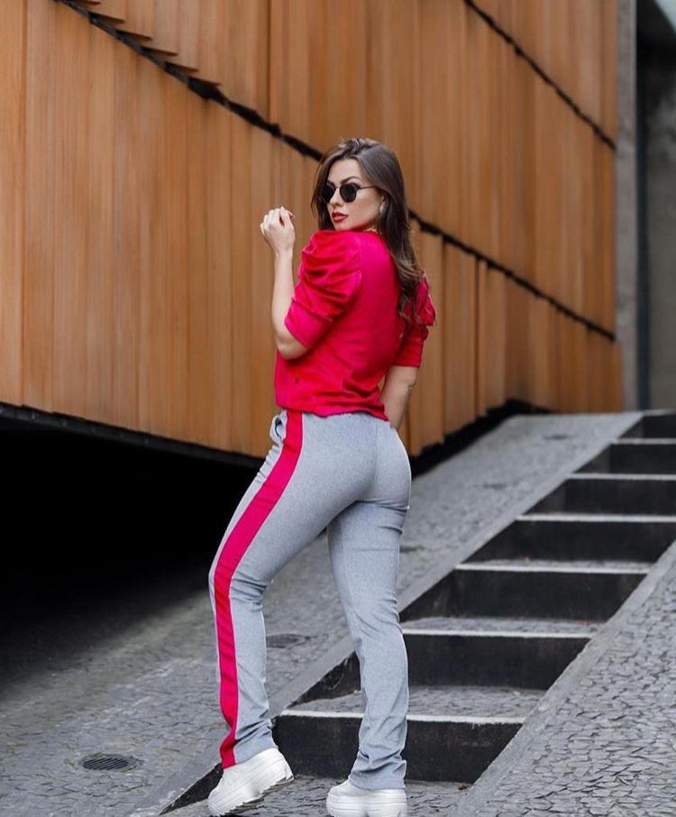 Conjunto Plush Calça e Blusa Princesa Vermelho - Joana