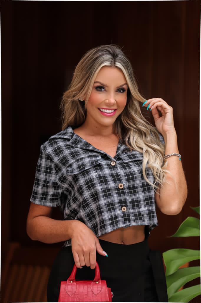 Cropped Camisa Tricolini Cropped Feminino Camiseta